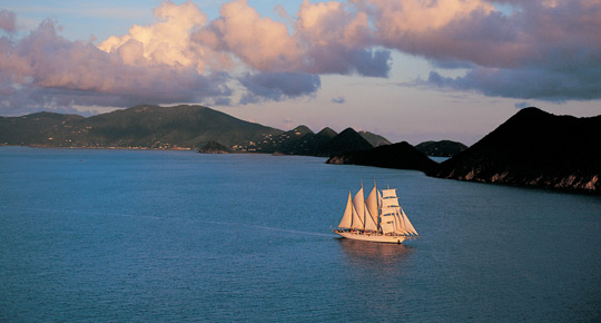 Segelschiff der Star Clippers